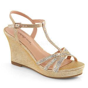 Shoes - Rhinestone Wedge Platform High Heel Sandal Shoes